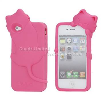 Cute 3D Cat Silicone Case For IPhone 4 4S