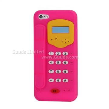 iphone 5s 3d cases 3d telephone pattern soft silicone for iphone 5 2053