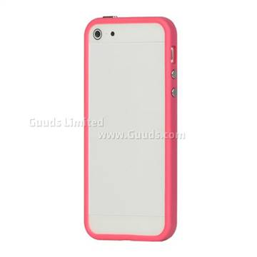 more photos 8231b cf322 Plastic and TPU Combo Bumper Case for iPhone 5s / iPhone 5 - Pink