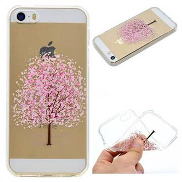 Petals Tree Super Clear Soft TPU Back Cover for iPhone SE 5s 5