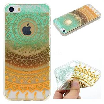 Tribe Flower Super Clear Soft TPU Back Cover for iPhone SE 5s 5
