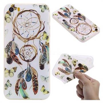 Color Wind Chimes 3D Relief Matte Soft TPU Back Cover for iPhone SE 5s 5