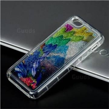Phoenix Glassy Glitter Quicksand Dynamic Liquid Soft Phone Case for iPhone SE 5s 5