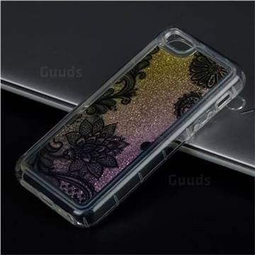 Diagonal Lace Glassy Glitter Quicksand Dynamic Liquid Soft Phone Case for iPhone SE 5s 5