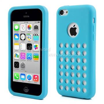 iphone 5c silicone case silicone for iphone 5c with 35 hollow holes and logo 14701
