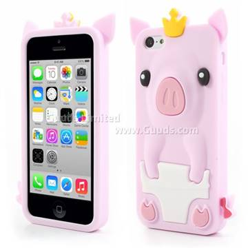 phone cases for iphone 5c crown pig soft silicone for iphone 5c light 17900