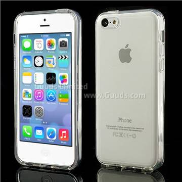 Inner Frosted Soft TPU Gel Case for iPhone 5C - Transparent