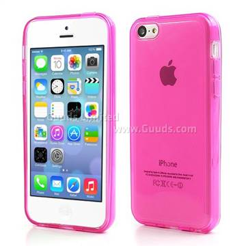Inner Frosted Soft TPU Gel Case for iPhone 5C - Rose