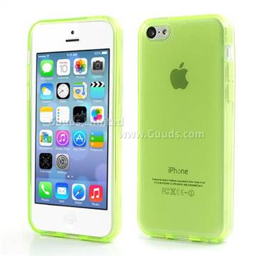 Inner Frosted Soft TPU Gel Case for iPhone 5C - Green