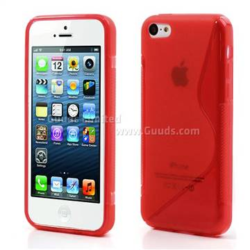 red iphone 5c s curve tpu gel cover for iphone 5c tpu guuds 4944