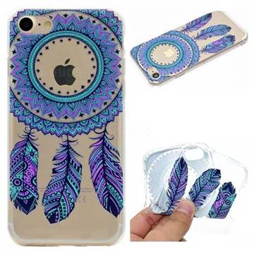 Blue Feather Campanula Super Clear Soft TPU Back Cover for iPhone 6s 6 6G(4.7 inch)