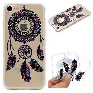 Feather Black Wind Chimes Super Clear Soft TPU Back Cover for iPhone 6s 6 6G(4.7 inch)