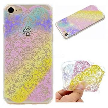 Mandala Rainbow Flower Super Clear Soft TPU Back Cover for iPhone 6s 6 6G(4.7 inch)