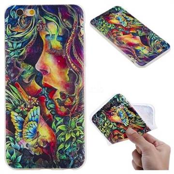 Butterfly Kiss 3D Relief Matte Soft TPU Back Cover for iPhone 6s 6 6G(4.7 inch)