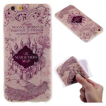 Castle The Marauders Map 3D Relief Matte Soft TPU Back Cover for iPhone 6s 6 6G(4.7 inch)