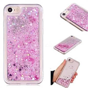 Glitter Sand Mirror Quicksand Dynamic Liquid Star TPU Case for iPhone 6s 6 6G(4.7 inch) - Cherry Pink