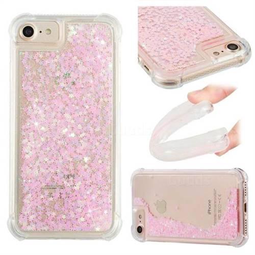 Dynamic Liquid Glitter Sand Quicksand TPU Case for iPhone 6s 6 6G(4.7 inch) - Silver Powder Star
