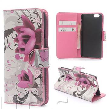 Lotus Flower Leather Wallet Case for iPhone 6 (4.7 inch)