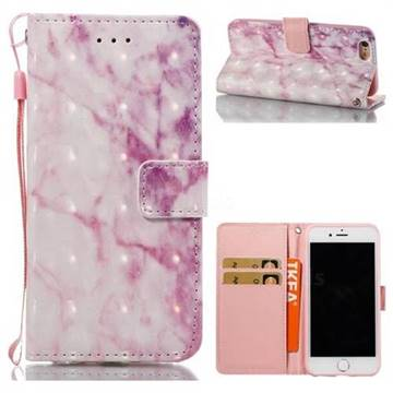 Pink Marble 3D Painted Leather Wallet Case for iPhone 6s 6 6G(4.7 inch)