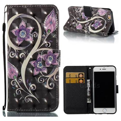 Peacock Flower 3D Painted Leather Wallet Case for iPhone 6s 6 6G(4.7 inch)