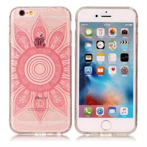 Pink Mandala Super Clear Soft TPU Back Cover for iPhone 6s Plus / 6 Plus 6P(5.5 inch)