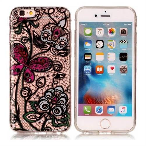 Butterfly Flowers Super Clear Soft TPU Back Cover for iPhone 6s Plus / 6 Plus 6P(5.5 inch)