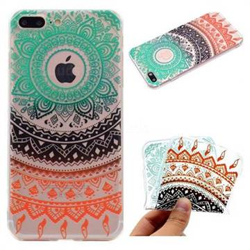 Tribe Flower Super Clear Soft TPU Back Cover for iPhone 6s Plus / 6 Plus 6P(5.5 inch)