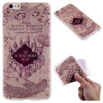 Castle The Marauders Map 3D Relief Matte Soft TPU Back Cover for iPhone 6s Plus / 6 Plus 6P(5.5 inch)
