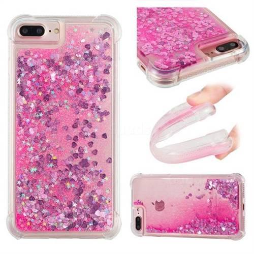 Dynamic Liquid Glitter Sand Quicksand TPU Case for iPhone 6s Plus / 6 Plus 6P(5.5 inch) - Pink Love Heart