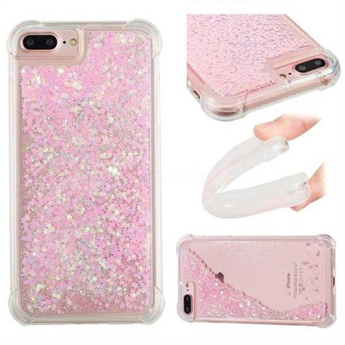 Dynamic Liquid Glitter Sand Quicksand TPU Case for iPhone 6s Plus / 6 Plus 6P(5.5 inch) - Silver Powder Star