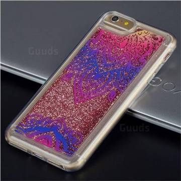 Blue and White Glassy Glitter Quicksand Dynamic Liquid Soft Phone Case for iPhone 6s Plus / 6 Plus 6P(5.5 inch)