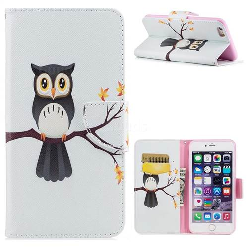 Owl on Tree Leather Wallet Case for iPhone 6s Plus / 6 Plus 6P(5.5 inch)