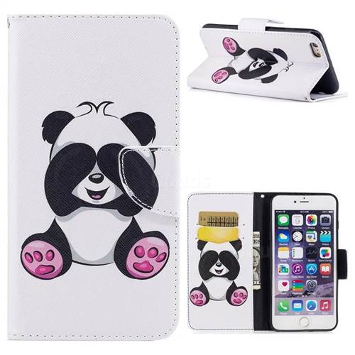Lovely Panda Leather Wallet Case for iPhone 6s Plus / 6 Plus 6P(5.5 inch)