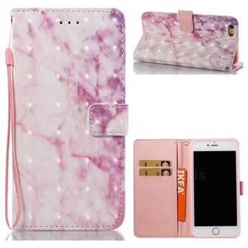 Pink Marble 3D Painted Leather Wallet Case for iPhone 6s Plus / 6 Plus 6P(5.5 inch)