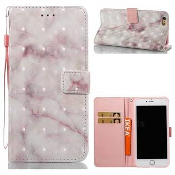 Beige Marble 3D Painted Leather Wallet Case for iPhone 6s Plus / 6 Plus 6P(5.5 inch)