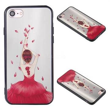 Rose Goddess Korean Brushed Mirror 2 in 1 Back Cover for iPhone 8 / 7 8G 7G(4.7 inch)