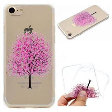 Petals Tree Super Clear Soft TPU Back Cover for iPhone 8 / 7 (4.7 inch)