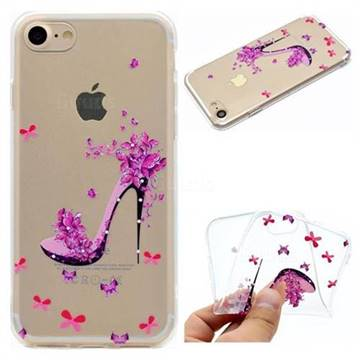 Petal High Heels Super Clear Soft TPU Back Cover for iPhone 8 / 7 (4.7 inch)