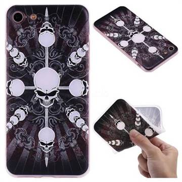 Compass Skulls 3D Relief Matte Soft TPU Back Cover for iPhone 8 / 7 (4.7 inch)