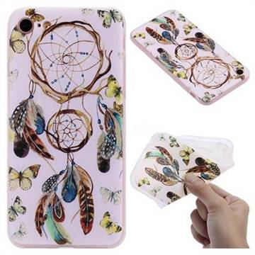 Color Wind Chimes 3D Relief Matte Soft TPU Back Cover for iPhone 8 / 7 (4.7 inch)