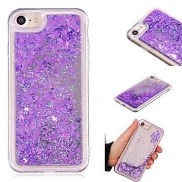 Glitter Sand Mirror Quicksand Dynamic Liquid Star TPU Case for iPhone 8 / 7 (4.7 inch) - Purple