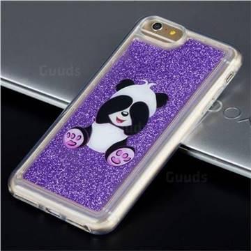 Naughty Panda Glassy Glitter Quicksand Dynamic Liquid Soft Phone Case for iPhone 8 / 7 (4.7 inch)