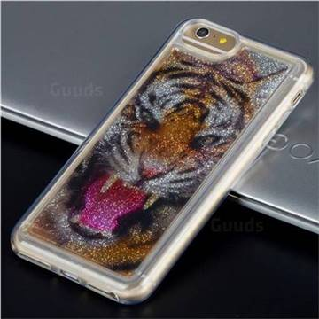 Tiger Glassy Glitter Quicksand Dynamic Liquid Soft Phone Case for iPhone 8 / 7 (4.7 inch)