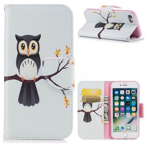 Owl on Tree Leather Wallet Case for iPhone 8 / 7 8G 7G(4.7 inch)