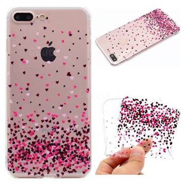 Heart Shaped Flowers Super Clear Soft TPU Back Cover for iPhone 8 Plus / 7 Plus 7P(5.5 inch)