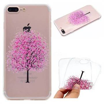 Petals Tree Super Clear Soft TPU Back Cover for iPhone 8 Plus / 7 Plus 7P(5.5 inch)
