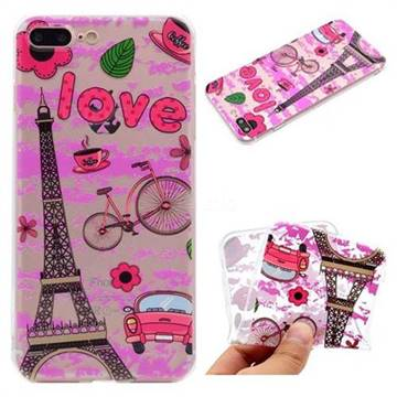 Love Eiffel Tower Super Clear Soft TPU Back Cover for iPhone 8 Plus / 7 Plus 7P(5.5 inch)