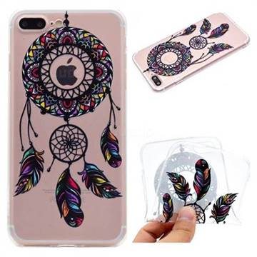 Feather Black Wind Chimes Super Clear Soft TPU Back Cover for iPhone 8 Plus / 7 Plus 7P(5.5 inch)