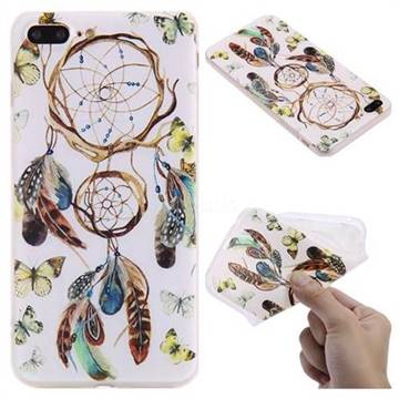 Color Wind Chimes 3D Relief Matte Soft TPU Back Cover for iPhone 8 Plus / 7 Plus 7P(5.5 inch)