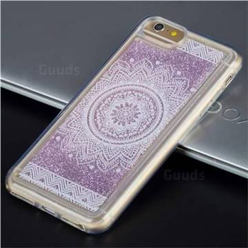 Mandala Glassy Glitter Quicksand Dynamic Liquid Soft Phone Case for iPhone 8 Plus / 7 Plus 7P(5.5 inch)